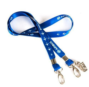 Blue Airbus Lanyard & ID Holder