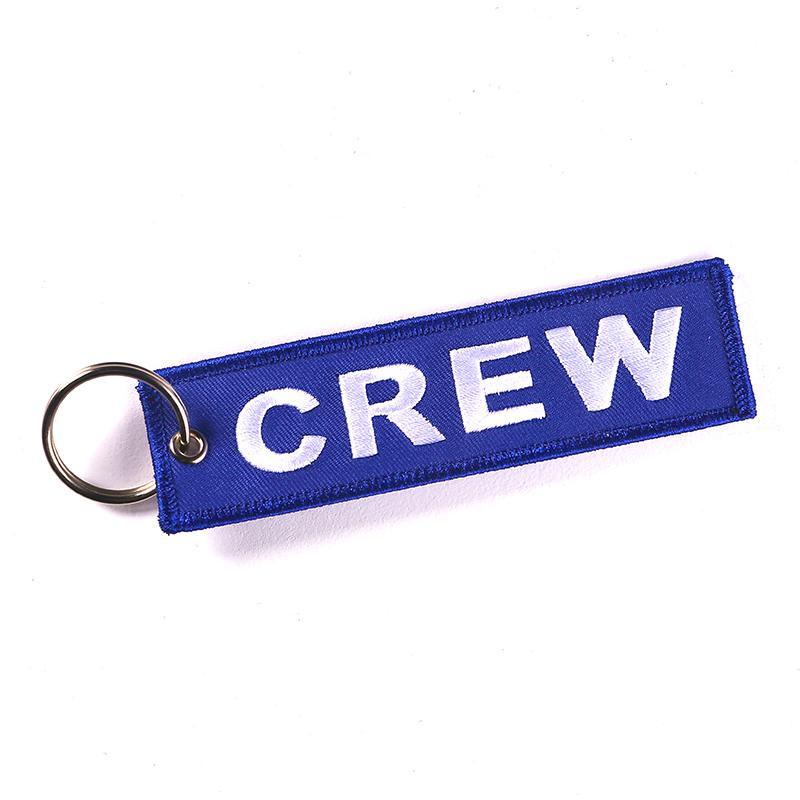 Blue Colour Crew Designed Key Chain