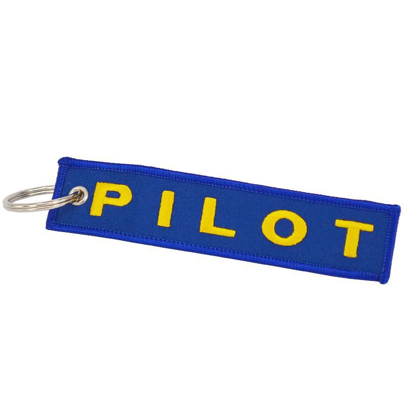 Blue With Yellow PILOT Designed Key Chains