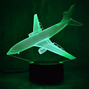 "Boeing 737 Designed 3D ""7 Colour"" Night Lamps"