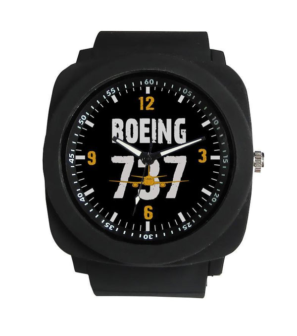 Boeing 737 & Plane Designed Rubber Strap Watches