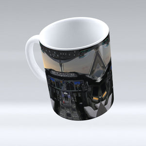 Boeing 787 Cockpit Printed Mugs