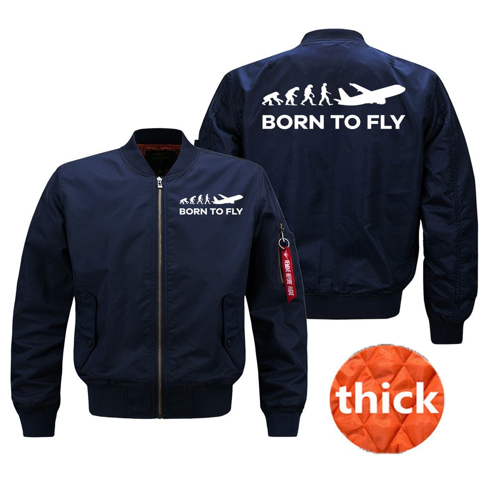Born To Fly Printed Pilot Jackets (Customizable)