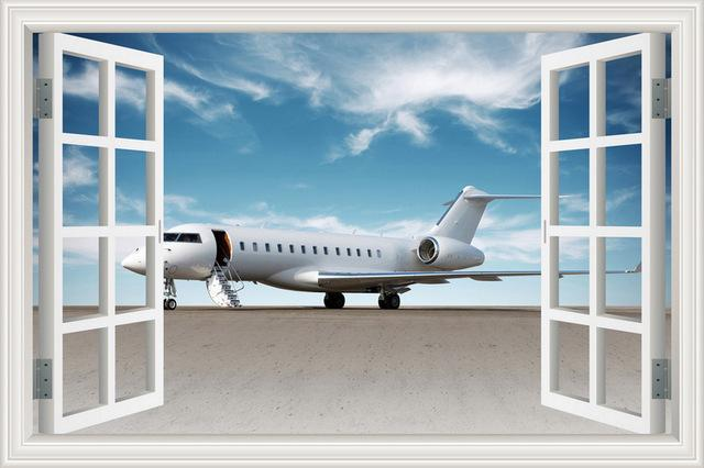 Business Jet Ready For Boarding Printed Wall Stickers