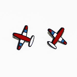 Cartoon Designed Airplane Shape Earrings