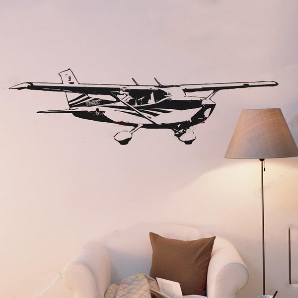 Cessna 172 Skyhawk Designed Wall Stickers