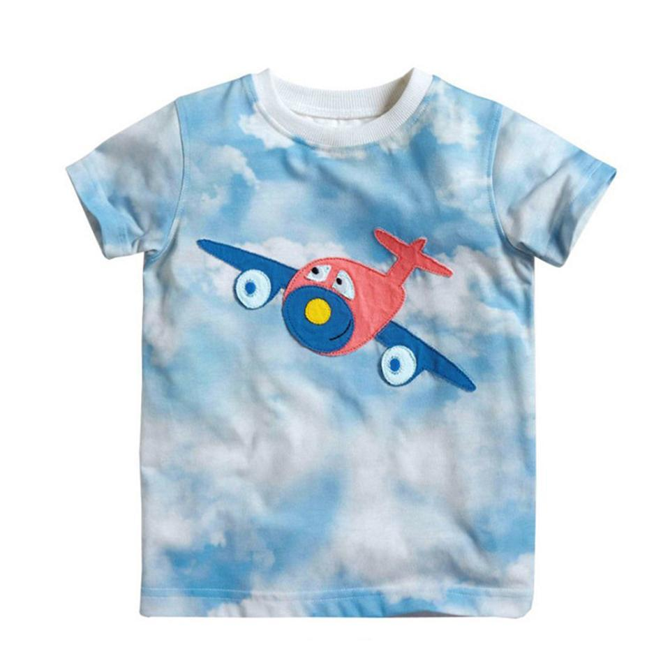 Clouds & Cute Airplane Designed Babies & Kids T-Shirts