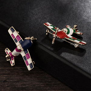Colourful Propeller Shaped Brooches