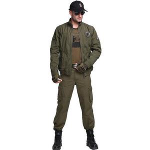 Cotton US Army Stars Designed Bomber Pilot Jackets