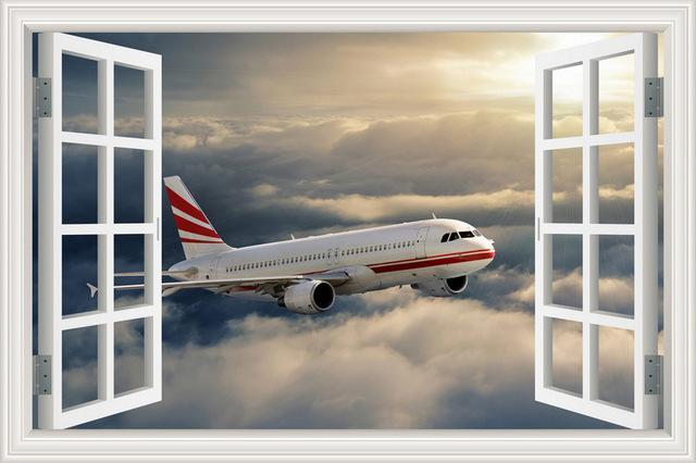 Cruising Airbus A320 Printed Wall Stickers
