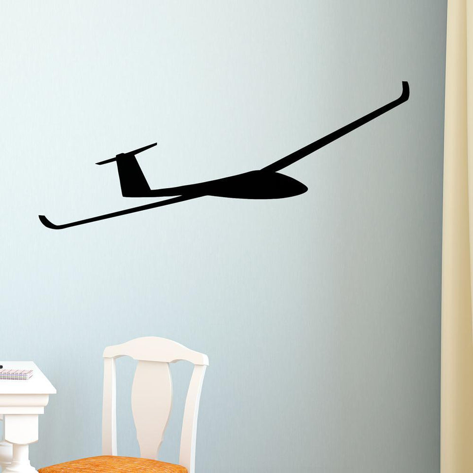 Cruising Glider Designed Wall Stickers