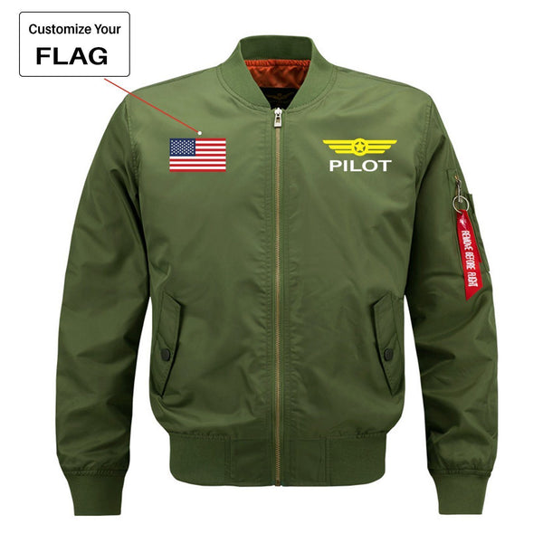 Custom Flag & Pilot Badge Designed Pilot Jackets
