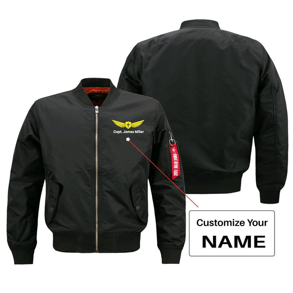 Custom Name With Badge 2 Designed Pilot Jackets