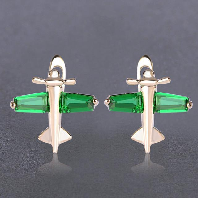 Cute Colourful Airplane Shape Earrings