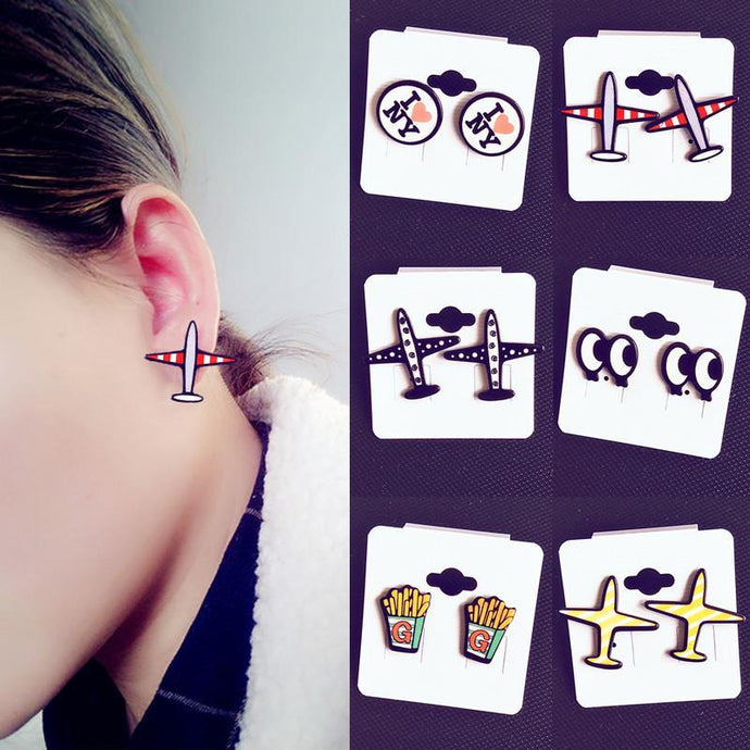Cute & Fashion Designed Airplane Earrings