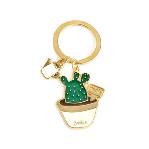 Cute Kawaii Potted Cactus Succulents Key Chains