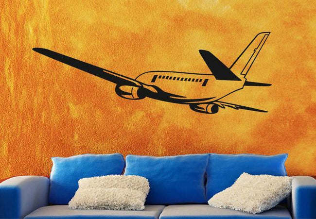 Departing Aircraft Designed Wall Stickers