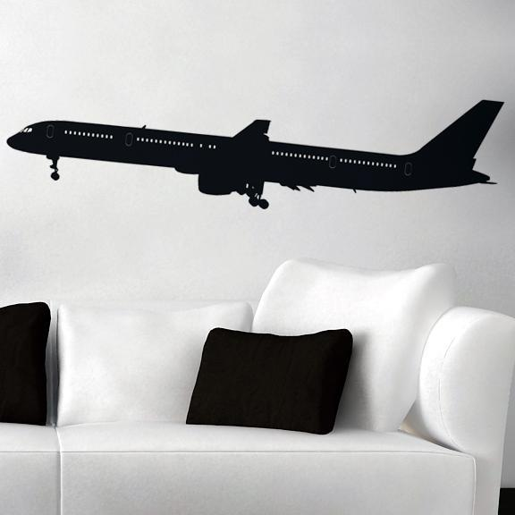 Departing Boeing 757 Designed Wall Sticker