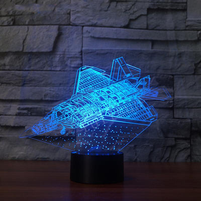Futuristic Space Shuttle & Jet Designed 3D Lamp