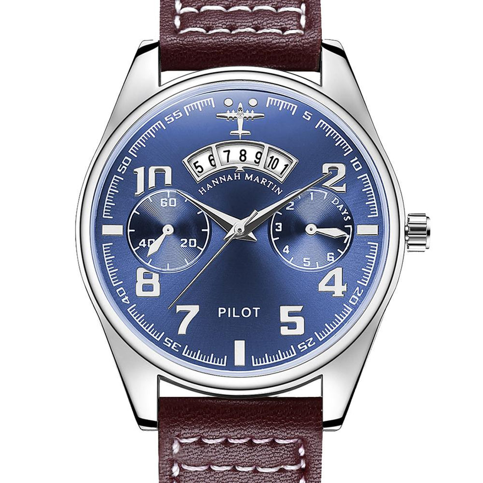 Luxury Aviator & Pilot Watches Pilot Eyes Store Brown & Blue