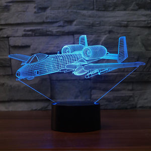 Bomber Aircraft Designed 3D Lamp Pilot Eyes Store