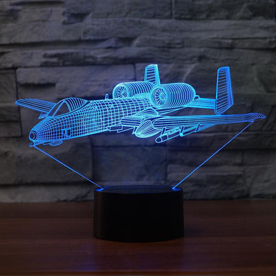 Bomber Aircraft Designed 3D Lamp