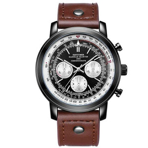Navy Pilot & Aviator Designed Watches Pilot Eyes Store Brown & Black