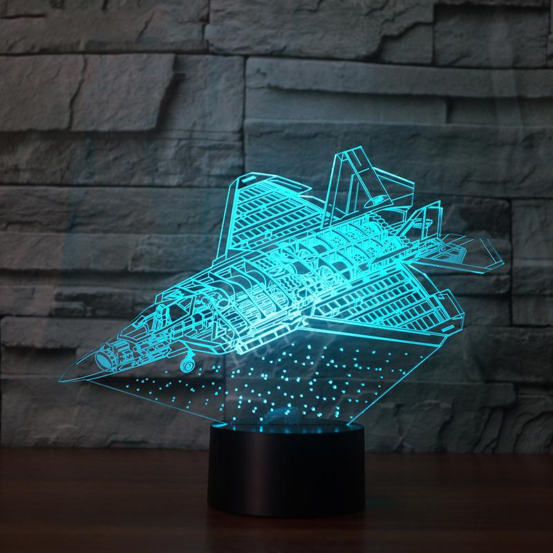Futuristic Space Shuttle & Jet Designed 3D Lamp Pilot Eyes Store