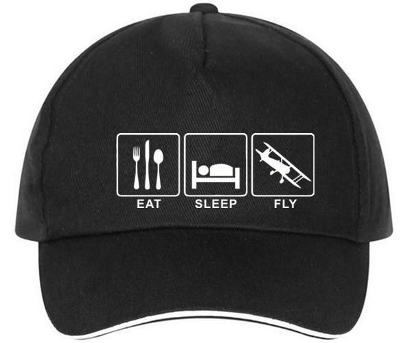 Eat Sleep Fly Designed Hats