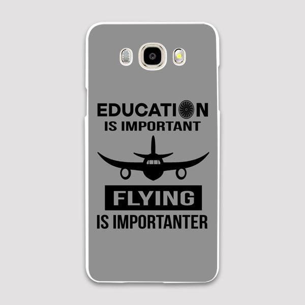 Education Is Important Flying Is Importanter Designed Samsung C & J Cases