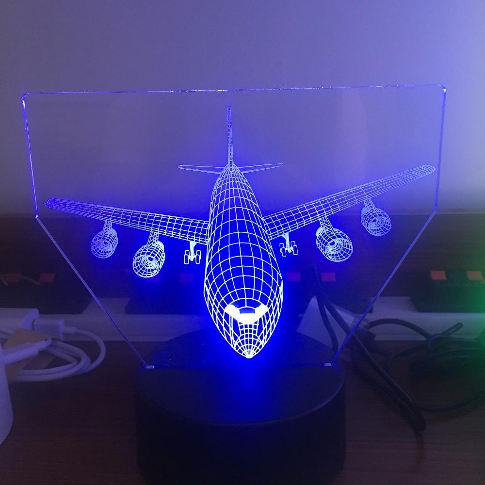 Face To Face With 4 Engine Aircraft Designed 3D Lamp