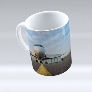 Face To Face With A Beatiful Airplane Printed Mugs