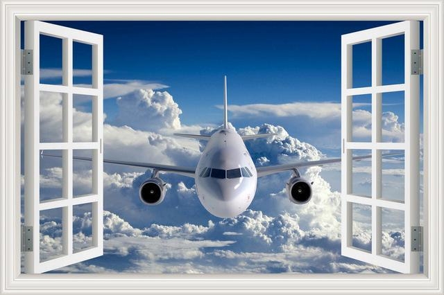 Face To Face With A Jet Aircraft & Storm Clouds Behind Printed Wall Stickers