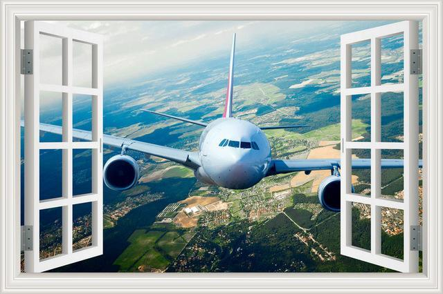 Face To Face With Airbus A330 Over The Sky Printed Wall Stickers