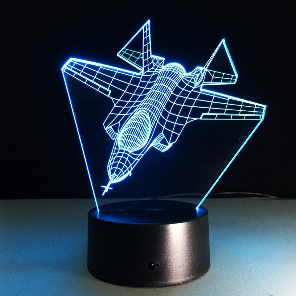 Fighter Jet 2 Designed Night Lamps