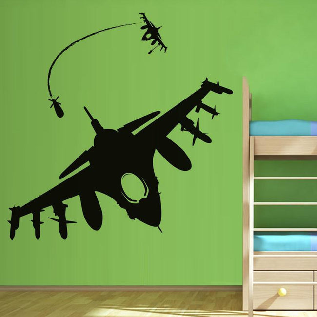 Fighter Jet F16 Printed Wall Stickers