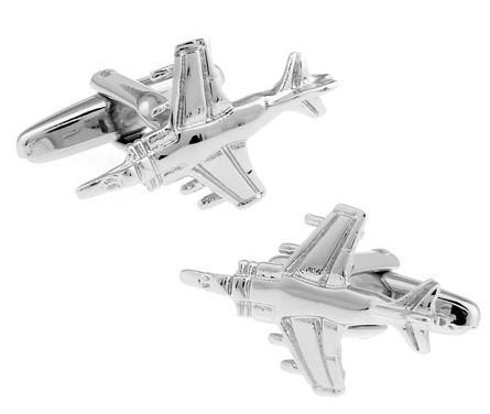 Fighter Jet Shaped Cuff Links