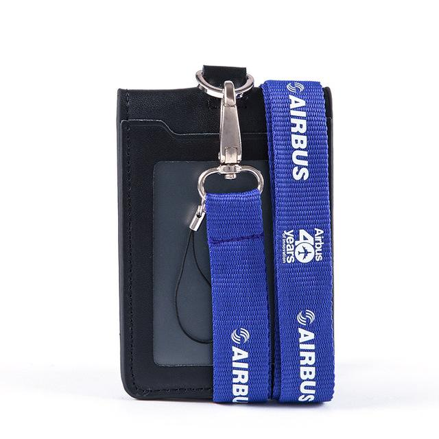 Genuine Airbus (40 Years) Logo Lanyard With ID Card Holder
