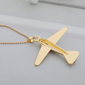 """Golden"" Design Aircraft Necklace & Pendant"