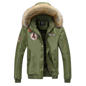 Heavy & Ultra Warm Faux Fur Hooded Pilot Bomber Jackets