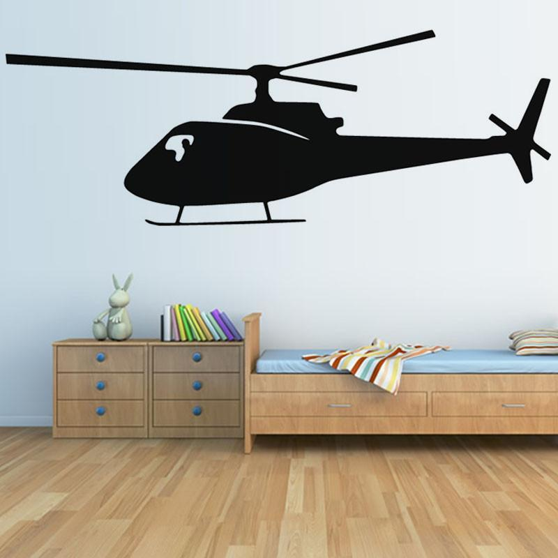 Helicopter Designed Wall Stickers