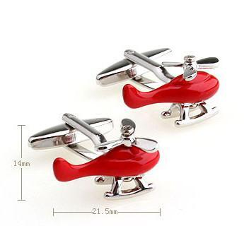 Helicopter Shaped Cuff Links