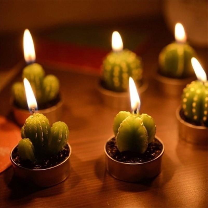 Home Decor Mini Cactus Candles