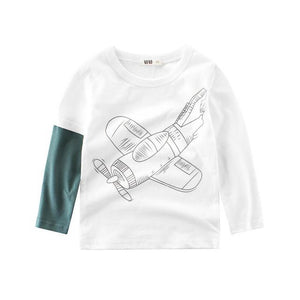Huge Aircraft Printed Babies & Kids Long Sleeve Clothes