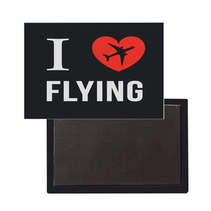 I Love Flying Designed Magnets