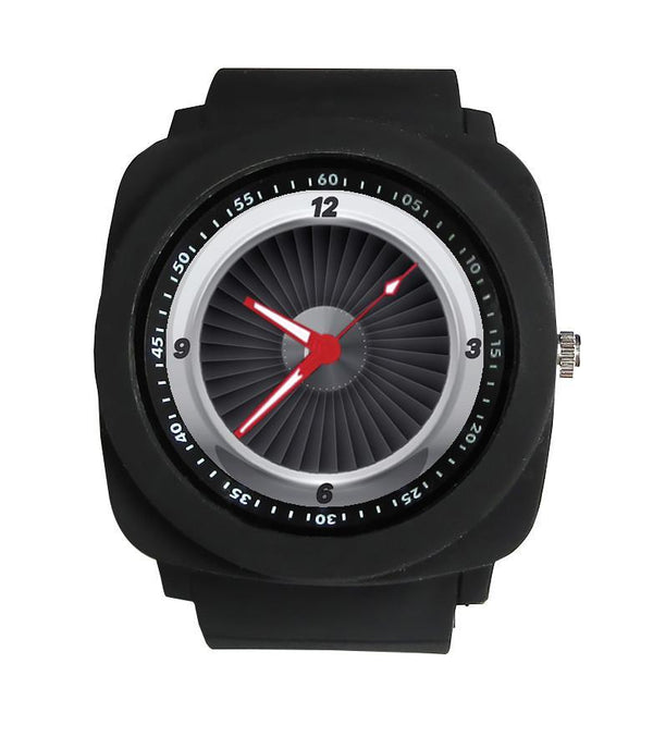 Jet Engine Designed Rubber Strap Watches