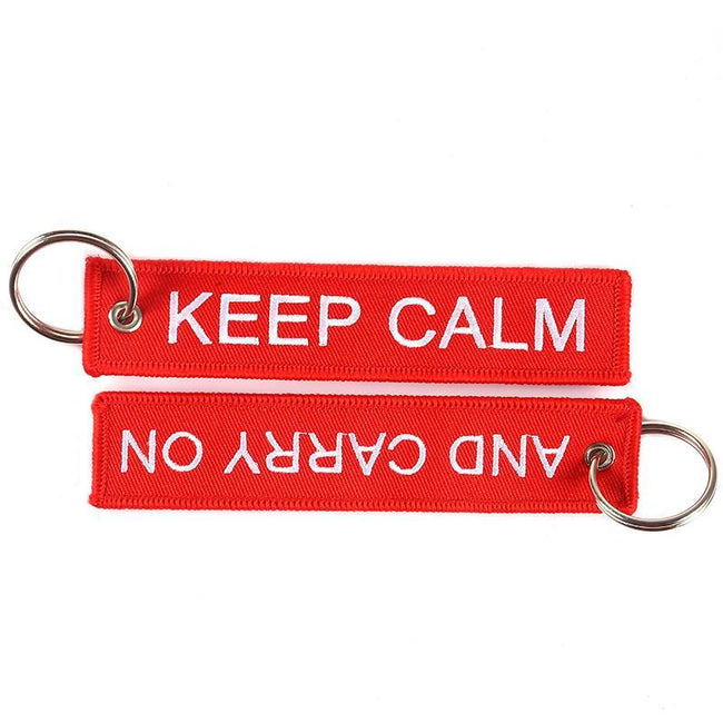 Keep Calm And Carry ON Designed Key Chains