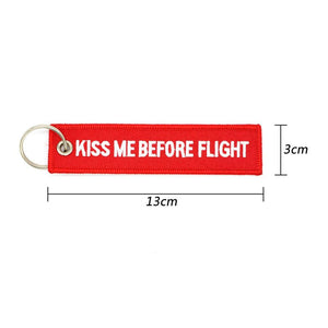 Kiss Me Before Flight Designed Key Chains