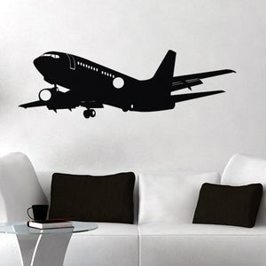 Landing Boeing 737 Designed Wall Sticker
