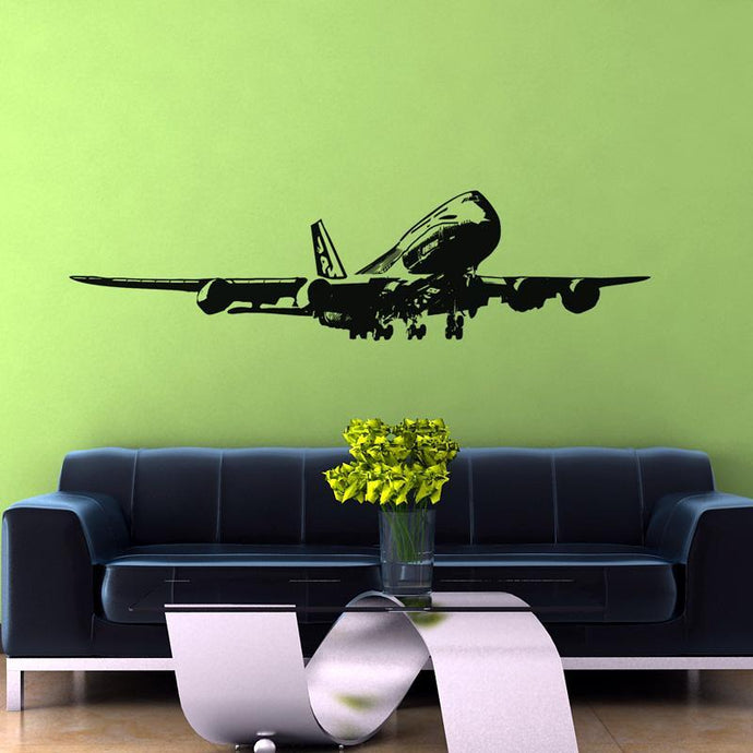 Landing Boeing 747 Designed Wall Sticker
